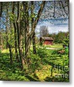 The Old River Shed Metal Print