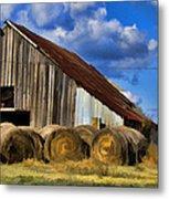The Old Roadside Barn Metal Print