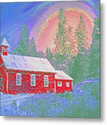 The Old Schoolhouse Library Metal Print