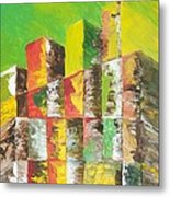 The Old Stack Of Wood Metal Print by Roy Penny