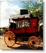 The Old Stage Coach Metal Print