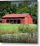 The Old Tractor Shed In Vignette Metal Print