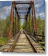 The Old Trestle Metal Print by Debra and Dave Vanderlaan