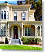 The Old Victorian Camron-stanford House In Oakland California . 7d13440 Metal Print by Wingsdomain Art and Photography