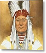 The Old War Chief Metal Print