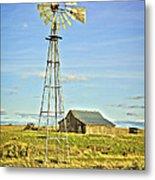The Old Windmill Metal Print