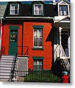 The Orange House In Montreal Metal Print