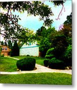 The Orange House Metal Print