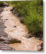 The Ourika River In Spate Metal Print