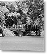 The Overhang In Black And White Metal Print
