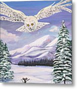 The Owl And The Rat Metal Print by Phyllis Kaltenbach