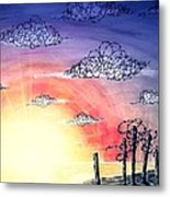 The Pain Of Sky That Will Never Be Calm Metal Print