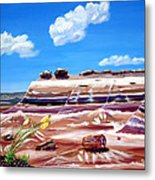 The Painted Desert And The Petrified Foreste Metal Print