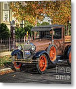 The Painted Lady's Gent Metal Print