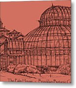 The Palm House In A Salmon Pink  Metal Print