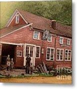 The Palmer Bates' Blacksmith Shop In Potter Hollow N Y Around 1910 Metal Print