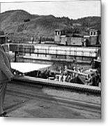 The Panama Canal, U.s. Troops Passing Metal Print