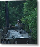 The Pandur Recce Vehicle In Use Metal Print