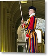 The Papal Swiss Guard Metal Print