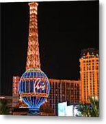 The Paris At Night Metal Print
