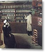 The Pharmacy, 1912 Artwork Metal Print