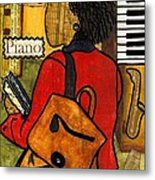 The Piano Lady Metal Print