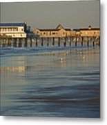 The Pier On Old Orchard Beach Metal Print