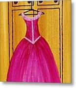 The Pink Dress 4535 Metal Print by Jessie Meier