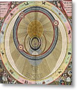 The Planisphere Of Brahe Harmonia Metal Print