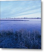 The Platte River In Central Nebraska Metal Print