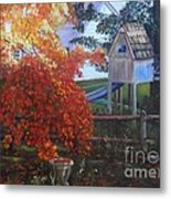The Playhouse In Fall Metal Print