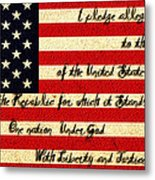 The Pledge Of Allegiance Metal Print