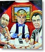 The Poker Game Metal Print