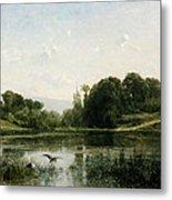 The Pond At Gylieu Metal Print