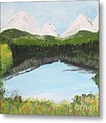 The Pond Metal Print by Lorraine Louwerse