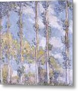 The Poplars Metal Print by Claude Monet