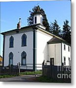 The Potter School House . Bodega Bay . Town Of Bodega . California . 7d12472 Metal Print by Wingsdomain Art and Photography