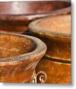 The Potters Terracotta Wares Metal Print