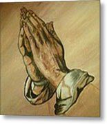 The Praying Hands Metal Print