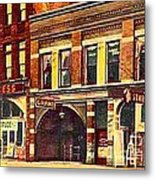 The Princess And Grand And Star Theatres On Amusement Row State Street In Erie Pa In 1910 Metal Print
