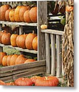 The Pumpkin Shack At Isom's Orchard Metal Print