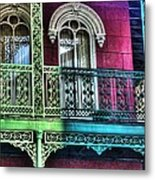 The Railing Metal Print