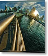 The Railing To The City Metal Print
