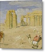 The Ramesseum At Thebes Metal Print