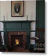 The Rankin Home Fireplace Metal Print