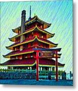 The Reading Pagoda Metal Print