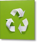 The Recycling Mark Made From The Data Of Paper Metal Print