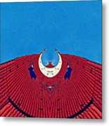 the red dress - Archifou 71 Metal Print by Aimelle
