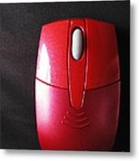 The Red Mouse Metal Print