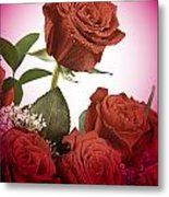 The Red Rose Center Of Love Metal Print